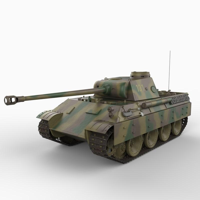 3dsmax panther d tank