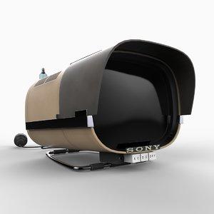 1960 sony tv8-301 portable 3d model
