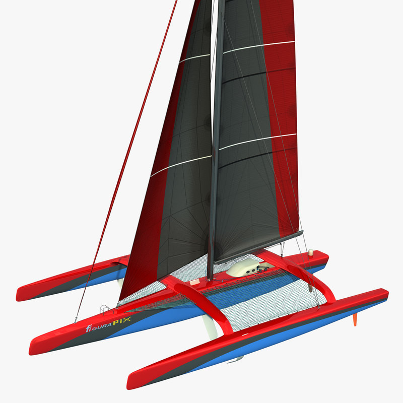 3d ultim class trimaran model