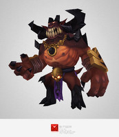 3d monster demon lord model