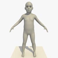 3d model base mesh 5 year