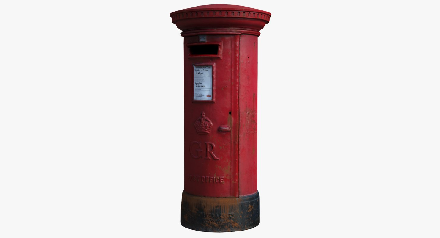 3d model asset british post box