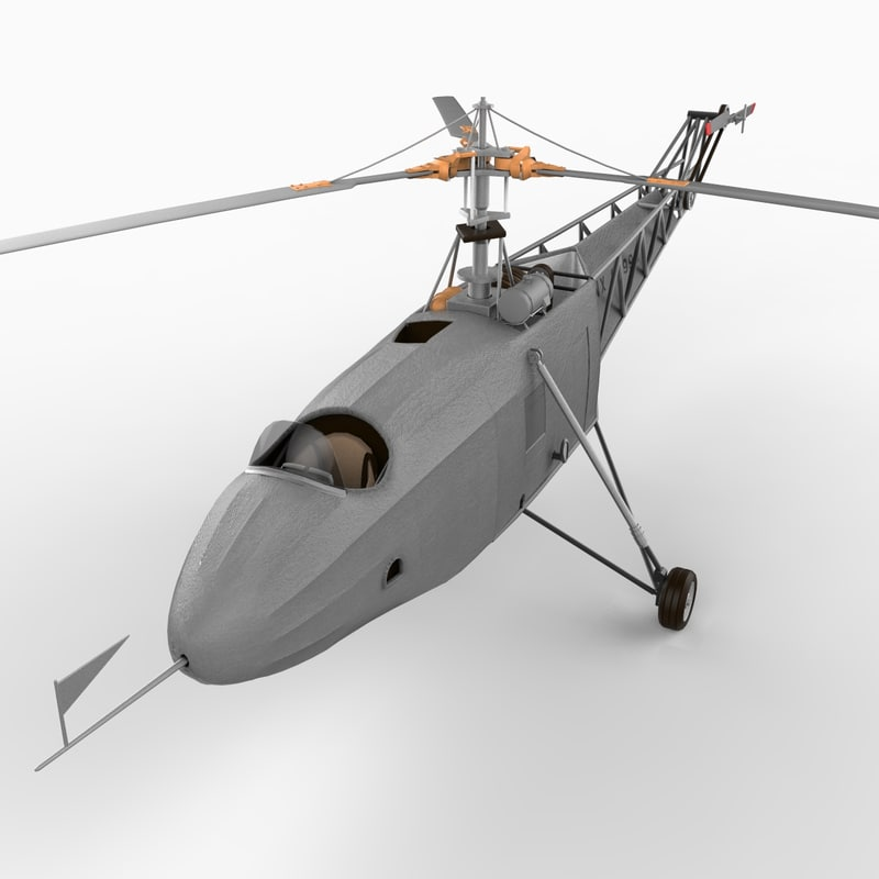 vs-300 helicopters 3d model