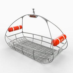 3d model rescue basket