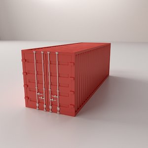 freight container 3d 3ds