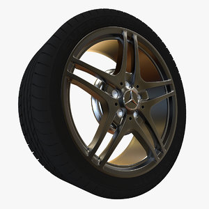 3d mercedes-benz wheel