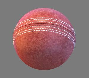 3d obj cricket ball