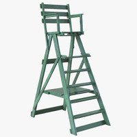 classic umpire chair green 3d max