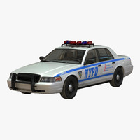 3ds max generic police car nypd