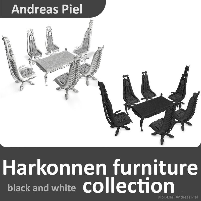 3d model harkonnen chair