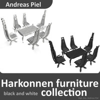 3d model harkonnen chair