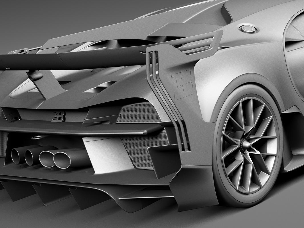 car race bugatti 3d max