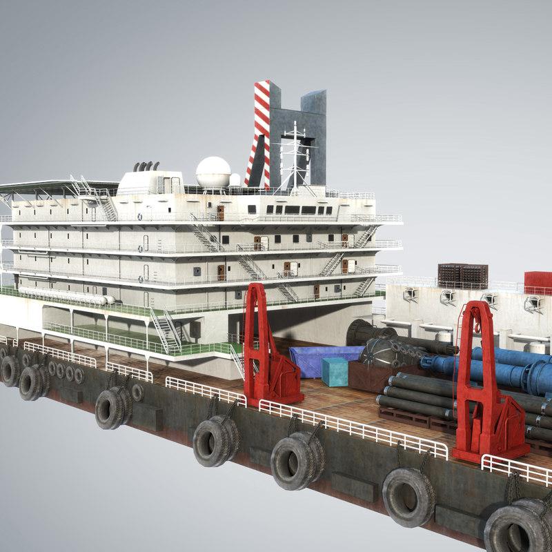 3d model vessel derrick lay