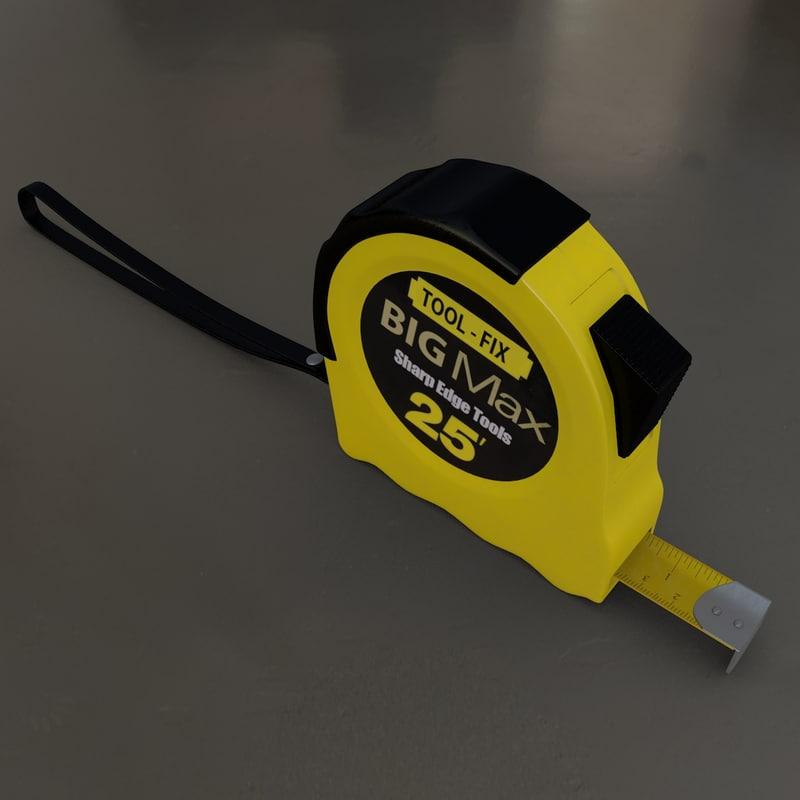 3d model tape meter