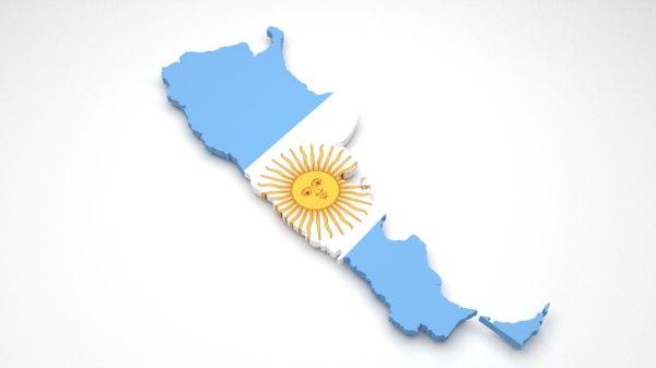 3ds max argentina flag
