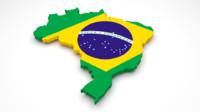 brazil flag 3d model