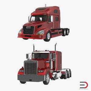 3ds max semi trailers truck