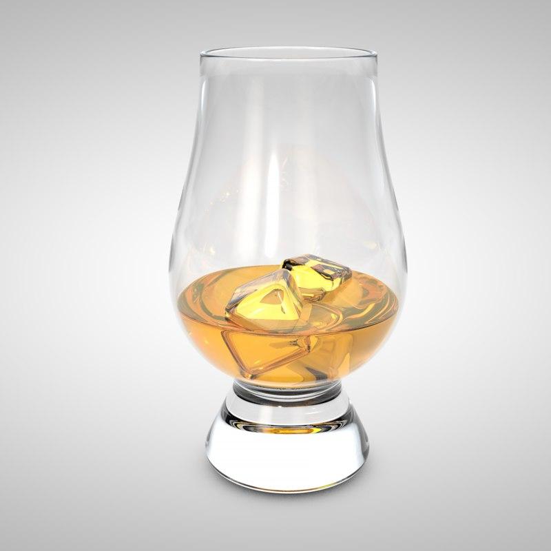 cinema4d whiskey glass