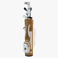 3d golf bag clubs 3