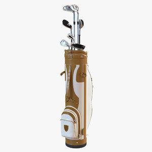 3d golf bag clubs 3