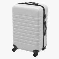 Plastic Trolley Luggage Bag White