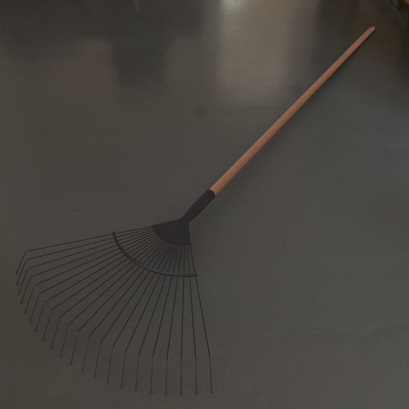 3d model rake tool 3d tool free