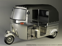 3d model indian autorickshaw