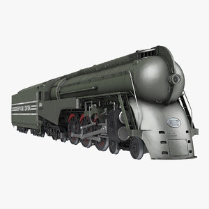 nyc dreyfuss hudson steam train 3d model