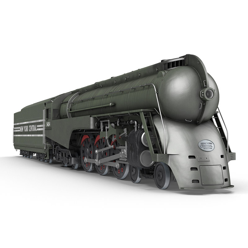 nyc dreyfuss hudson steam train 3d model