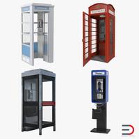 public phones 3d model