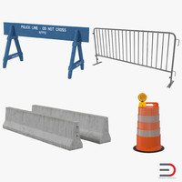 road barriers 2 3d max