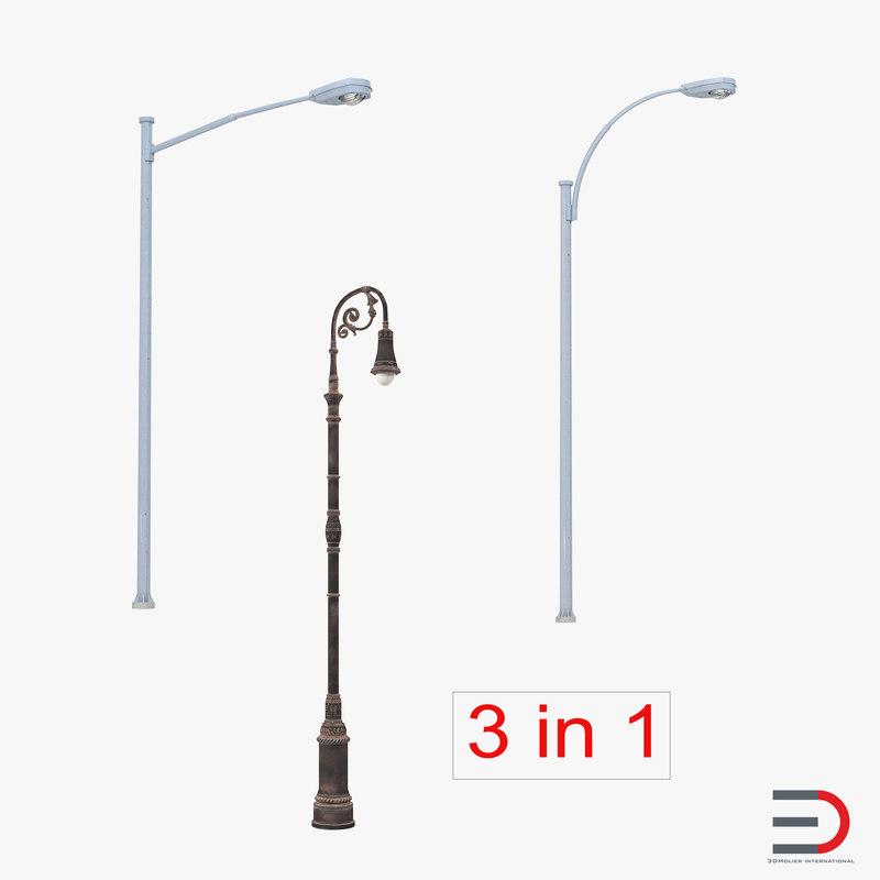 3d street lamps model