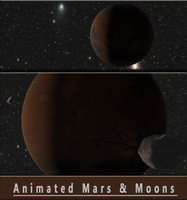 moons animation mars planet 3d model