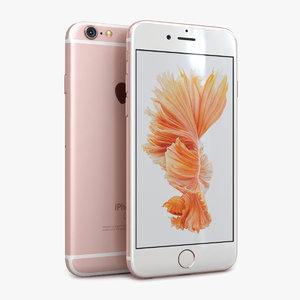 3d apple iphone 6s rose model