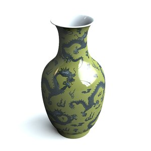 3d model of chinese vase
