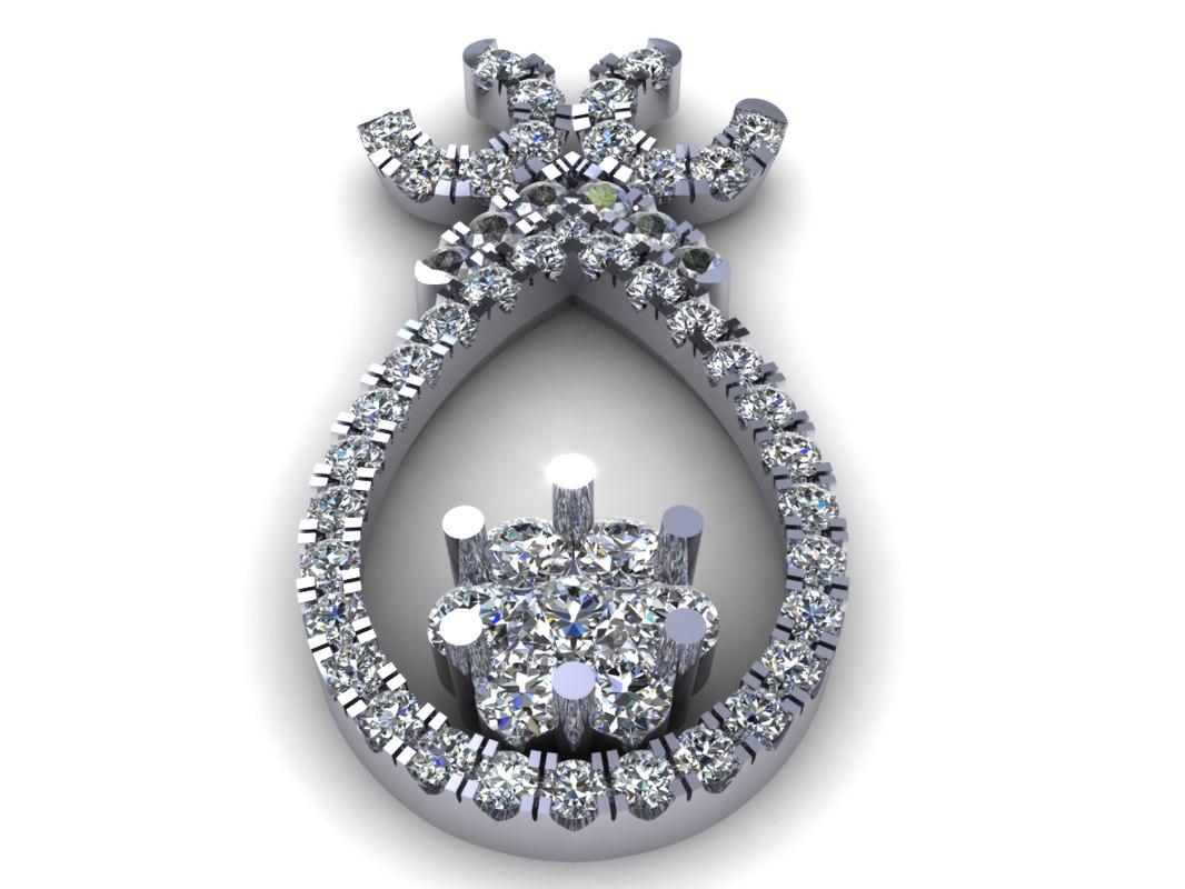 diamond earring 3d model