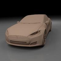 tesla s car 3d 3ds