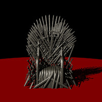 throne rusty iron - fbx