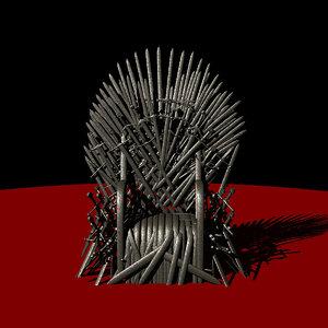 throne rusty iron - fbx