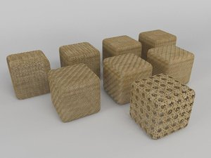 wicker puffs 3d max