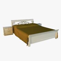 bed gold 3d model