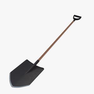 3d spade model
