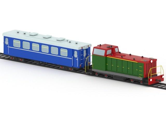 electric locomotive train 3d max