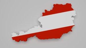 austria flag 3d model