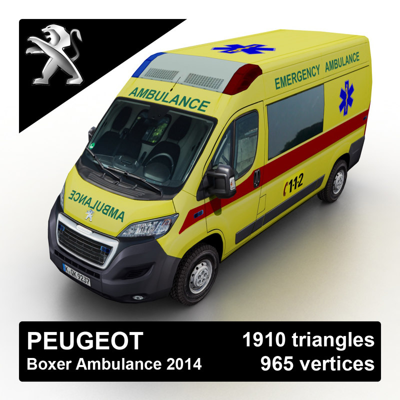 2015 peugeot boxer ambulance 3d 3ds. Black Bedroom Furniture Sets. Home Design Ideas