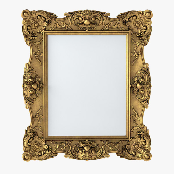 baroque picture frame fbx