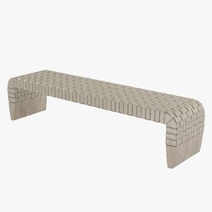 3d max bench poltrona frau