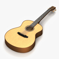 3dsmax acoustic guitar
