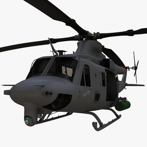 bell uh-1y venom helicopter 3d model