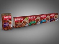 3ds max boxes nestle cocoa products
